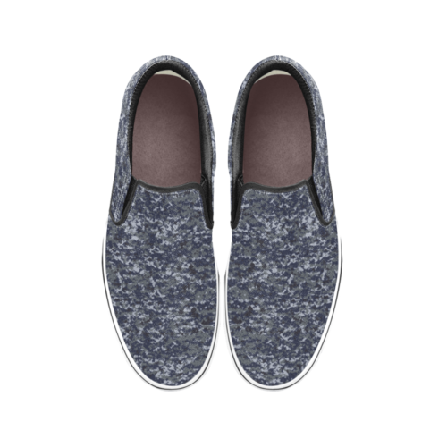 US NAVY NWUPAT camouflage Men's Classic Slip-On Sneakers .