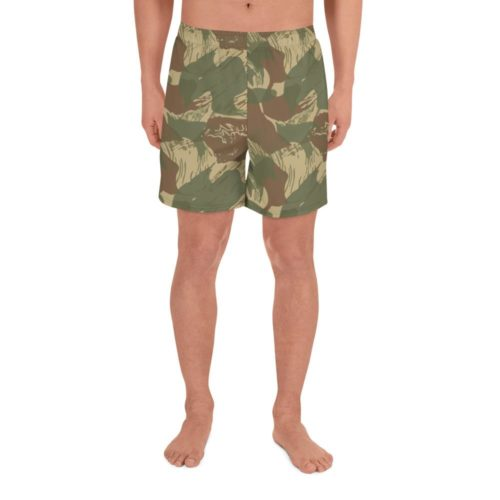 Rhodesian Brushstroke Camouflage Men's Athletic Long Shorts
