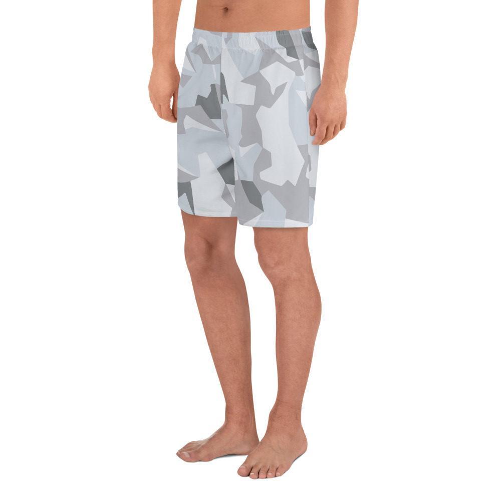 Swedish M90 Winter Snow Camouflage Men's Athletic Long Shorts