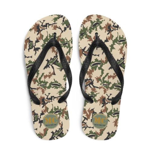 Egyptian 1990's Scrambled Eggs Camouflage Flip-Flops