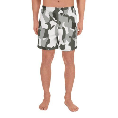 Swedish M90 Urban camouflage Men's Athletic Long Shorts