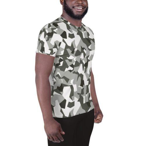 Swedish M90 Urban camouflage Men's Athletic T-shirt