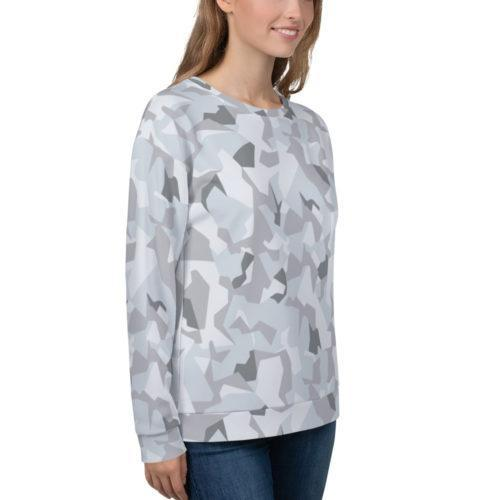 Swedish M90 Winter Snow Camouflage Unisex Sweatshirt