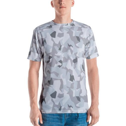 Swedish M90 Winter Snow Camouflage Men's T-shirt