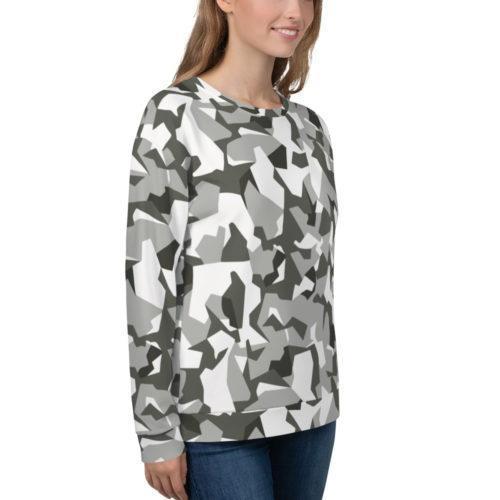 Swedish M90 Urban Camouflage Unisex Sweatshirt