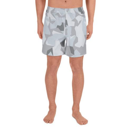 Swedish M90 Winter Snow Camouflage Men's Athletic Long Shorts