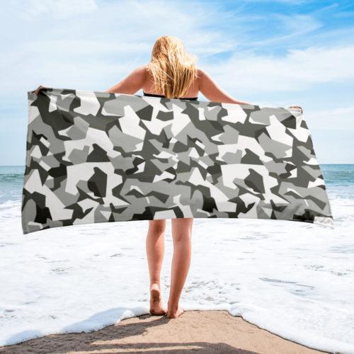 Swedish M90 Urban Camouflage Beach Towel
