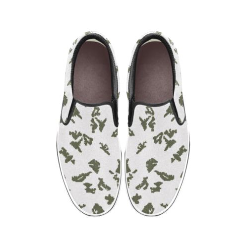 Russian Berehzkz KMLK white Men's Classic Slip-On Sneakers .