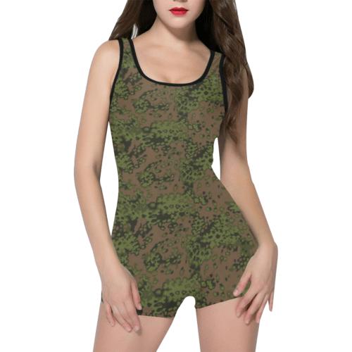 German WWII eichenlaub summer camouflage Classic One Piece Swimwear