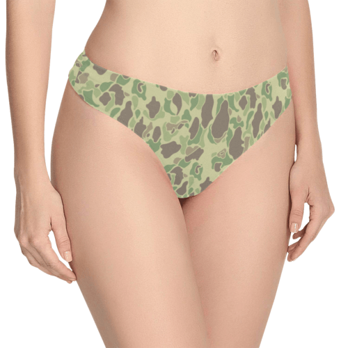US duck hunter summer camouflage Women's Thongs