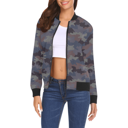 Yugoslav M85 Hrastov List urban camouflage Bomber Jacket for Women