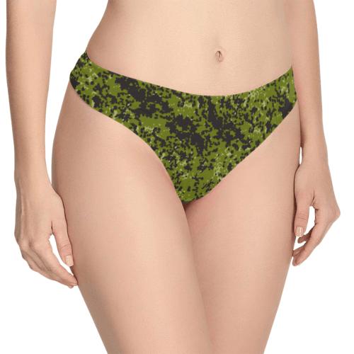 Danish M84 camouflage Women's Thongs