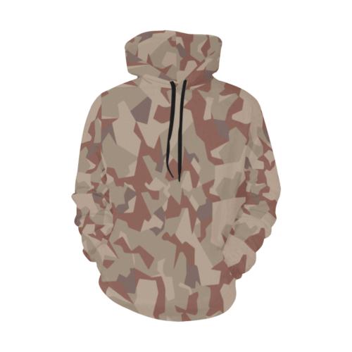 Swedish M90 Desert Camouflage Hoodie for Men