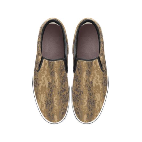 Austrian Jagdkommando pixeltarnung desert Camouflage Men's Classic Slip-On Sneakers .