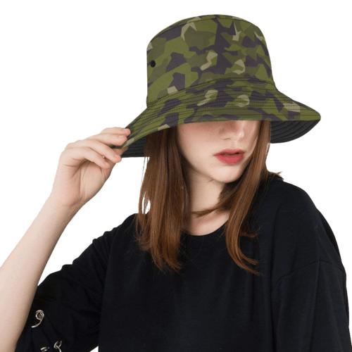 swedish M90 woodland camouflage  Bucket Hat
