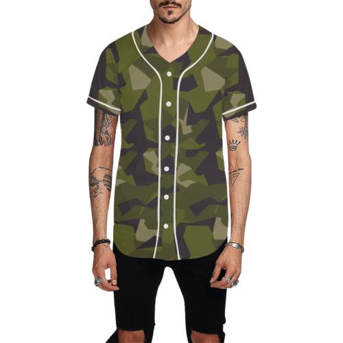 Swedish M90 woodland camouflage Baseball Jersey