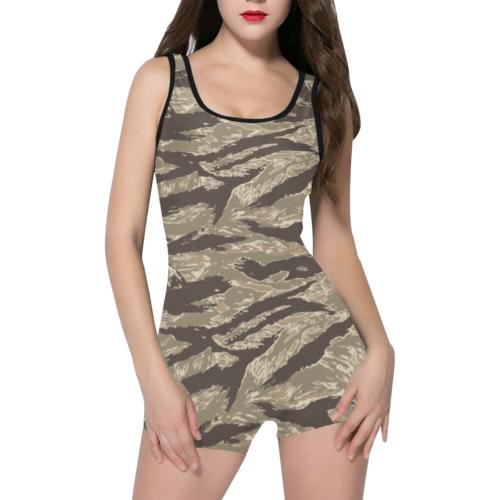 US desert Tiger stripe camouflage Classic One Piece Swimwear