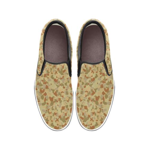 Australian AUSCAM DPMU MID-POINT camouflage Men's Classic Slip-On Sneakers .