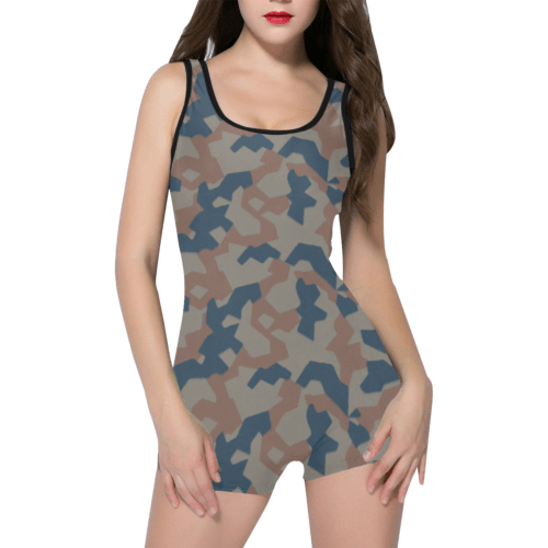 bulgarian 1951 splinter camouflage Classic One Piece Swimwear