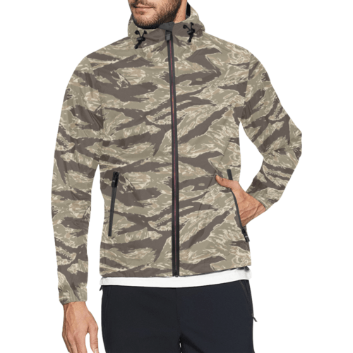 US desert Tiger stripes camouflage Windbreaker