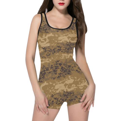 Austrian Jagdkommando pixeltarnung desert Camouflage Classic One Piece Swimwear