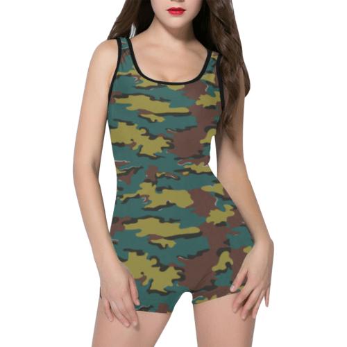 belgian jigsaw camouflage Classic One Piece Swimwear