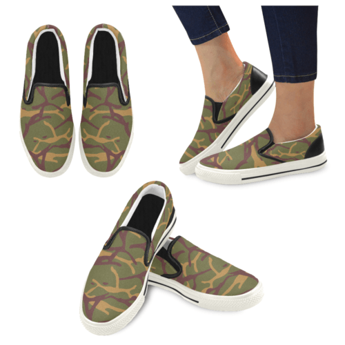 Yugoslav M68 MOL Camouflage Men's Slip-on Canvas Skater Shoes