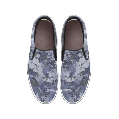 Australian RAAF GPU camouflage Men's Classic Slip-On Sneakers .