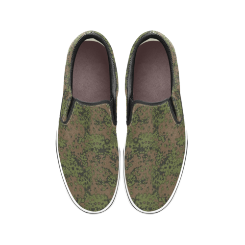 Echenlaub summer camouflage Men's Classic Slip-On Sneakers .