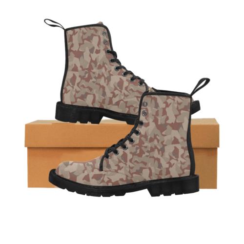 Swedish M90 Desert camouflage Martin Boots for Men (Black)