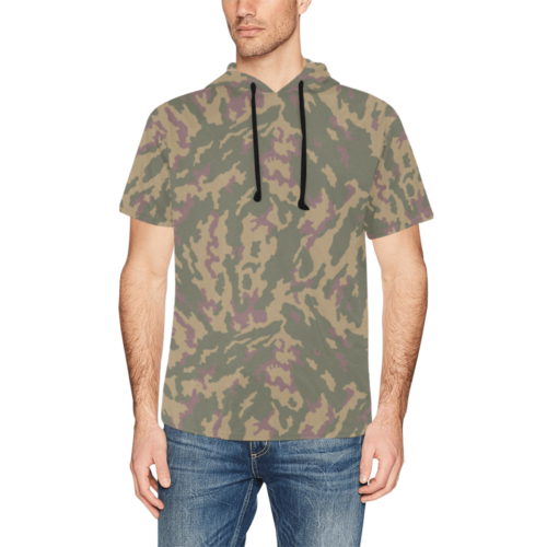 Russian VSR 3TsV Highland Dubok Camouflage Short Sleeve Hoodie for Men