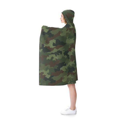 Yugoslav M89 Hrastov List Camouflage Hooded Blanket Free Shipping