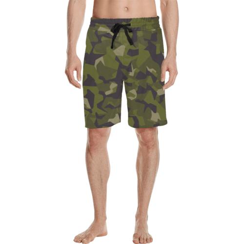 Swedish M90 woodland camouflage Men's Casual Shorts