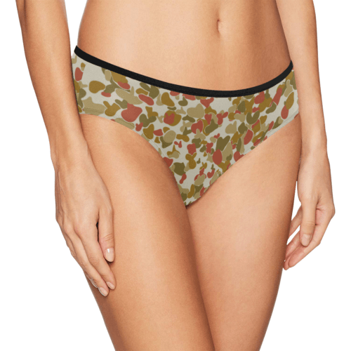 red auscam opfor musoria camouflage Women's Bikini Briefs