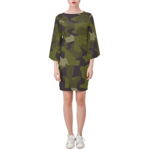 Swedish M90 woodland camouflage Bell Sleeve Dress
