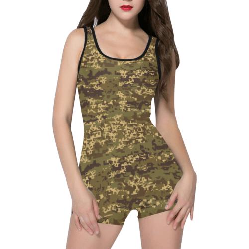 Austrian Jagdkommando pixeltarnung Temperate camouflage Classic One Piece Swimwear
