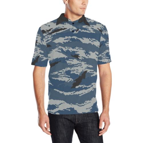 Russian Kamysh Metro camouflage Men'sPolo Shirt