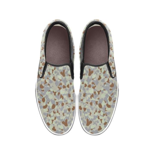 DESERT AUSCAM MKII camouflage Men's Classic Slip-On Sneakers .