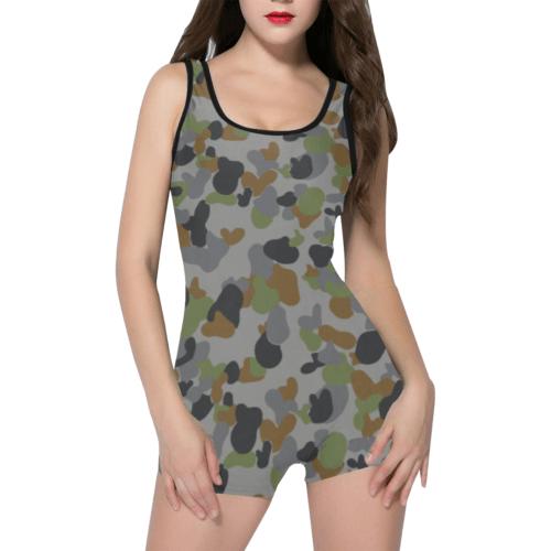 AUSCAM AFDPU camouflage Classic One Piece Swimwear