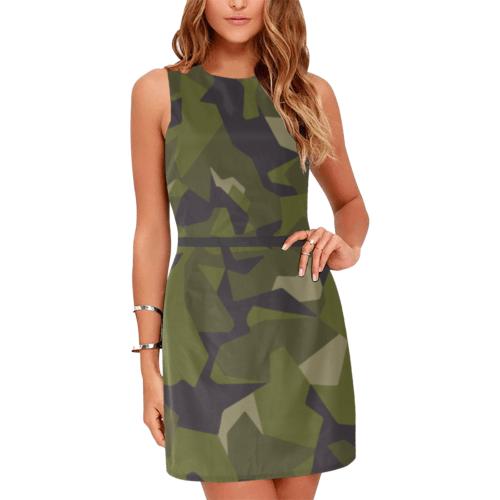 Swedish M90 woodland camouflage Eos Women's Sleeveless Dress