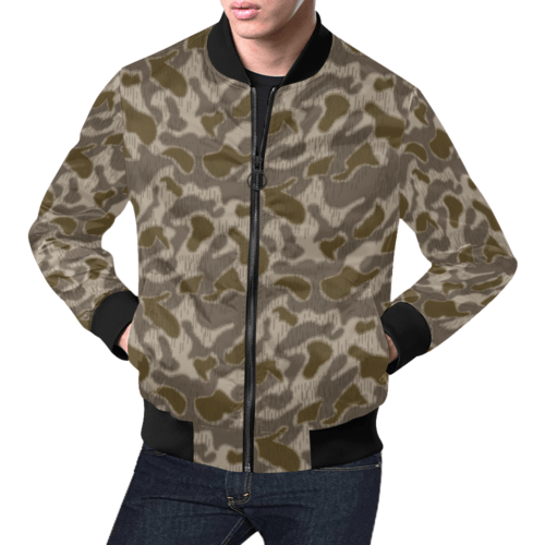 Austrian Sumpfmuster late steintarn camouflage Bomber Jacket for Men