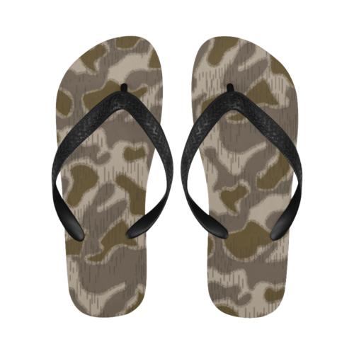 Austrian Sumpfmuster late steintarn  camouflage Flip Flops for Men/Women Free Shipping