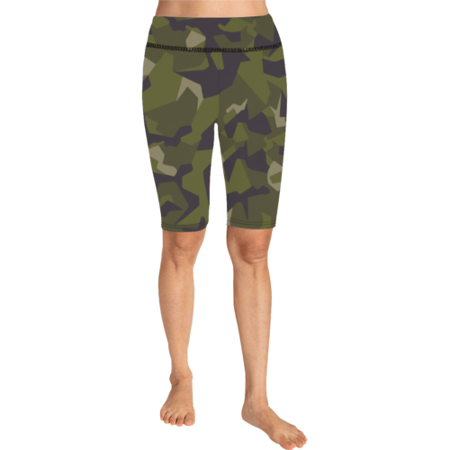 Swedish M90 woodland camouflage Knee Length shorts Leggings