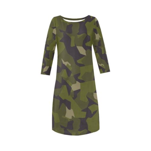 Swedish M90 woodland camouflage Round Collar Dress