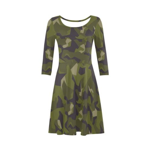 Swedish M90 woodland camouflage 3/4 Sleeve Sundress