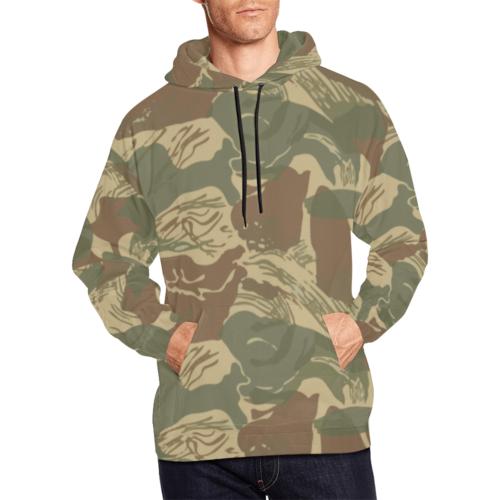 Rhodesian Brushstroke camouflage Hoodie for Men