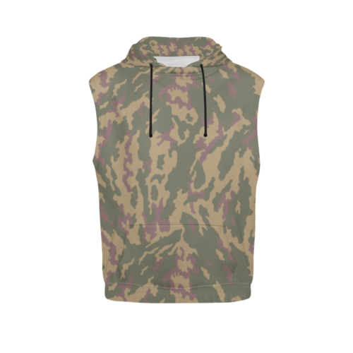 Russian VSR 3TsV Highland Dubok Camouflage Sleeveless Hoodie for Men