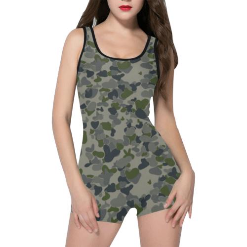 auscam dpnu camouflage Classic One Piece Swimwear