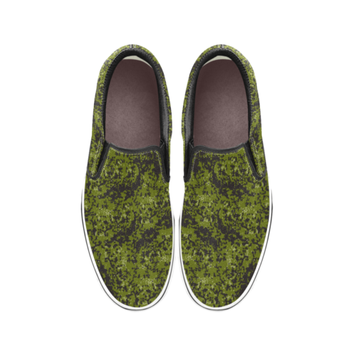 Danish M84 camouflage Men's Classic Slip-On Sneakers .