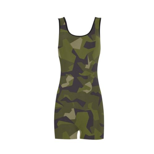 swedish M90 woodland camouflage Classic One Piece Swimwear